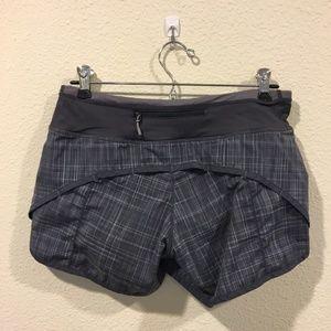 lululemon athletica Shorts - Lululemon two toned gray speed athletic shorts